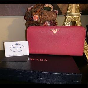 PRADA purse Zip Around- Pink